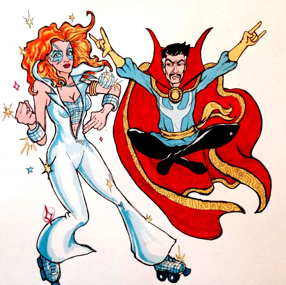 D is for Doctor Strange & Disco Dazzler