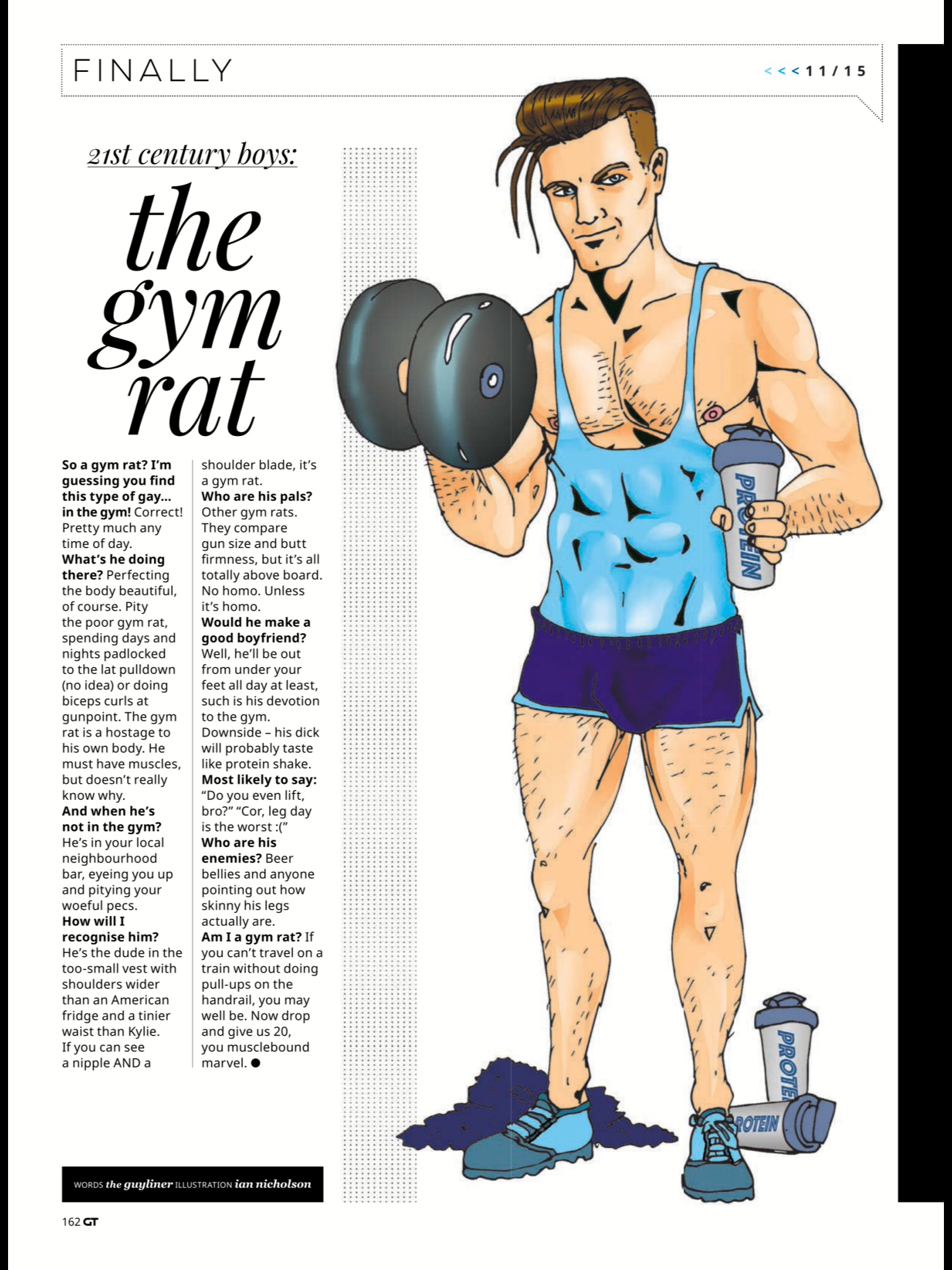 Illustration #1 The Gym Rat
